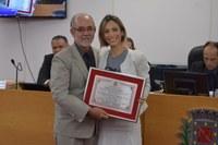 Esportista recebe homenagem da Câmara Municipal
