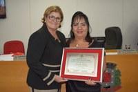 Rosangela Trivilin recebe Título de Cidadania frutalense